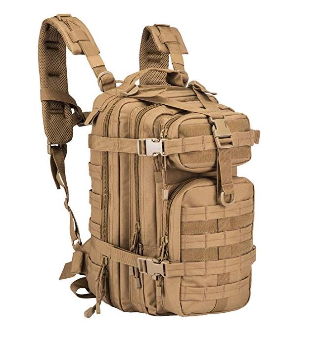 ARMYCAMOUSA Military Tactical Backpack, Small 3 Day Army Molle Assault  Rucksack Pack for Outdoors, Hiking, Camping, Trekking, Bug Out Bag   Travel 257d77194b